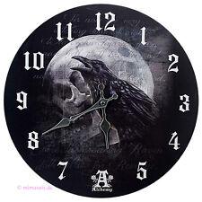 Wanduhr Bilderuhr Uhr Deko - Raven Curse - Shakespear Hamlet Der Fluch des Raben