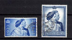 GB  1948  SG 493-494  SILVER WEDDING  USED  FINE