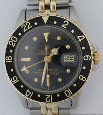 1972 Rolex GMT Master Black Dial 2 Tone Mens Watch