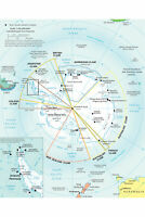 Antarctica; CIA Map; Research Stations & Political Divisions
