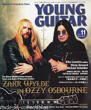 Young Guitar Magazine November 2001 Japan Ozzy Osbourne Zakk Wylde Angra