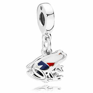 Authentic Pandora Puerto Rico Frog Silver Charm 797222ENMX
