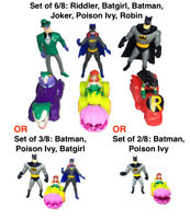 McDonalds Happy Meal 1993 Batman the Animated Series 6/8 Set of Figures