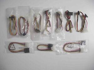 4 Pin Molex to SATA Power Adaptor Cables - Mixed Job Lot x 10