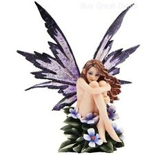 "Amy Brown Fantasy Periwinkle Flower Fairy Statue Enchanted 6""h Figurine Gift NEW"
