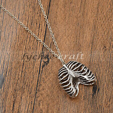 Special Silver Punk Ribcage Necklace Skeleton Pendant Chain Jewelry Charm Gift