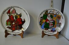 Lot of 2 Christmas Santa Claus Porcelain Plates by Seltmann Weiden of Bavaria