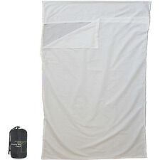 POLY COTTON DOUBLE SLEEPING BAG LINER OUTDOOR CAMPING TRAVEL BED COVER SLEEVE