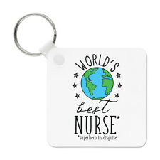 World's Best Nurse Keyring Key Chain - Funny Gift Present