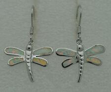 Markenlose Echter Edelsteine-Ohrschmuck mit Opal und Durchzieher