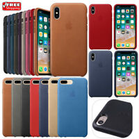 New Original Genuine PU Leather Case Cover Skin For Apple iPhone X 7 8 6 6S Plus
