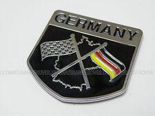 VW GOLF GERMAN MK3 GERMANY FLAG RETRO CLASSIC CAR CHEQUERED RACING CHROME BADGE