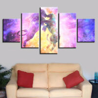 Emerald Dream Heart Tree Branch 5 Pieces Canvas Art Print Picture Wall Decor