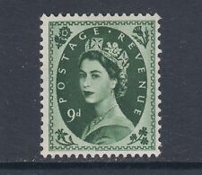 Great Britain Sc 328 MLH. 1956 9p Queen Elizabeth II, F-VF