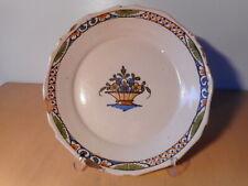 Assiette ancienne faience centre France 18 19 siècle ceramique française