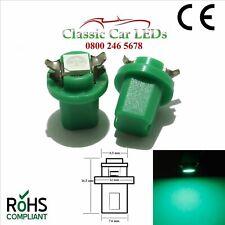 2x B8.5D TWIST LED BULBS GREEN 286 T5 GAUGE DASHBOARD UPGRADE MINI LOTUS