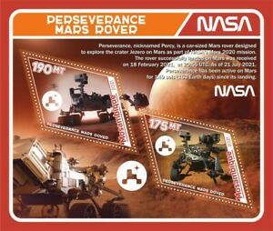 Stamps space Perseverance rover