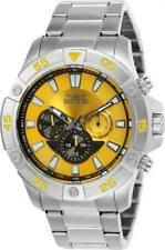 Invicta 23497 Pro Diver Ocean Cruiser Tachymeter Day Date Yellow Dial Mens Watch