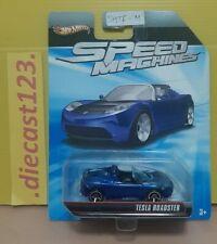 Hot Wheels SPEED MACHINES -  TESLA ROADSTER (Blue) #SMTRM