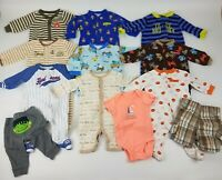 Oshkosh Carters Baby Boys Size 3 Months Mixed Clothes Sleepers Lot of 12 VGUC