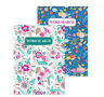 2 X A5 Floral Cover WordSearch Puzzle Book Books 220 Puzzles Pages Super Trivia