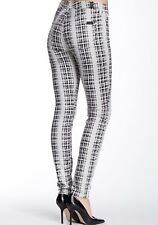 7 for All Mankind High Waist SKINNY in Houndstooth Plaid Stretch Jeans 28