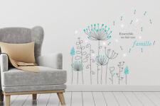 Walplus French Quote Dandelion with Swarovski Crystals Decal Home Decoration