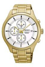 Seiko Sks544p1 Chronograph Quartz Mens Goldplated Multidial Watch Boxed