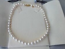 FABULOUS AUTHENTIC MIKIMOTO 9mm AKOYA PEARL NECKLACE, MIKIMOTO CERTIFIED