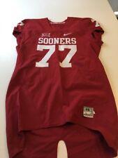 Game Worn Used Oklahoma Sooners OU Nike Football Jersey Size 48 #77 Paul