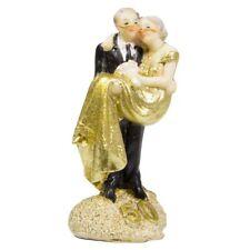 Figura Pareja de Novios Bodas de Oro 50 Años Decoración Tarta de Boda Fiesta NEW