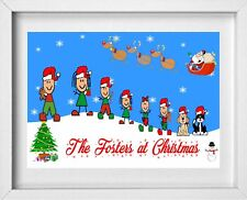 FAMILY NAME CHRISTMAS PICTURE | Stick People Figures | Personalised Name (NP250)