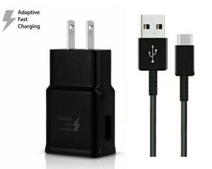 6 Feet Type C Cable + Adaptive Fast Charging Wall Adapter Rapid Charge Charger