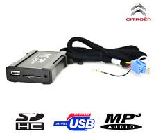 BOÎTIER USB AUXILIAIRE MP3 AUTORADIOS D'ORIGINE CITROËN C2 C3 C5 C8 BERLINGO
