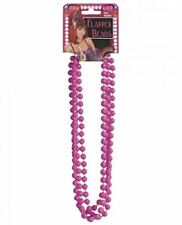 20s 80s Hot Pink Flapper Valley Girl Beaded Necklace