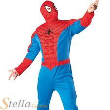 Mens Deluxe Spiderman Fancy Dress Costume Avengers Superhero Halloween Outfit