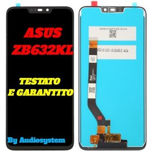 DISPLAY TOUCH SCREEN per ASUS ZENFONE MAX M2 ZB632KL ZB633KL X01AD NERO VETRO