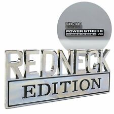 REDNECK EDITION PAIR CAR EMBLEMS Chrome Metal Badges suit GMC SIERRA JIMMY *NEW