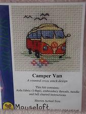 Mouseloft stitchlets Punto Croce Kit Camper Van ~ ~ Crema/Arancione ~ 004-h01stl