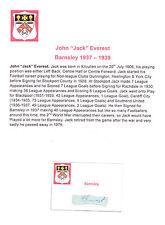 JACK Everest Barnsley 1937-1939 rara mano originale firmato TAGLIO / CARD