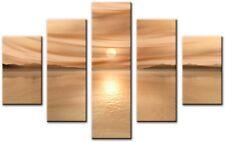 5 PANNELLO totale 115x80cm CANVAS IMMAGINI Wall Art STAMPA riflettono Beige