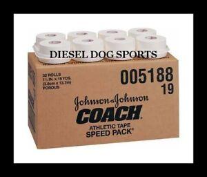 "J&J Coach 1.5"" x15yd Athletic Tape Johnson & Johnson Sports Tape (6 ROLLS)"