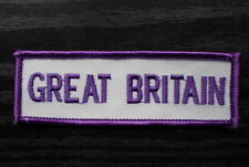 GREAT BRITAIN SEW ON EMBROIDERED CLOTH PATCH CAP, JACKET, POLO SHIRT PATCH
