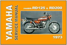 YAMAHA Workshop Manual RD200 & RD125 1973 Maintenance Service & Repair