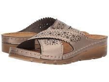 fb1ddfc8cf9 Flexus by Spring Step PASSAT Womens Pewter MADE IN TURKEY Slide Sandals