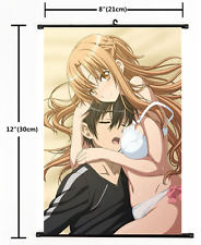 Anime Sword Art Online Kirito Asuna Wall Poster Scroll Home Decor Cosplay 2211