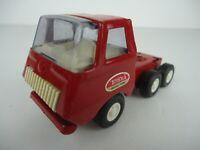 Vintage Mini Tonka Semi Truck Red  Pressed Steel