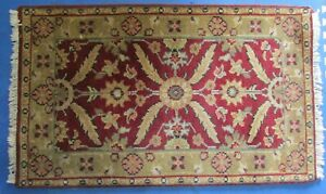 """Floral Hand-Knotted Small 2'7""""X4' Farmhouse Oriental Area Rug Home Decor Carpet"""