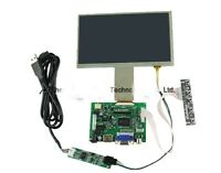 7 Inch TFT LCD Monitor Touch Screen + Driver Board HDMI VGA For Raspberry Pi B+