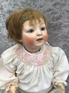 ANTIQUE BISQUE HEAD DOLL JDK 211 GERMANY